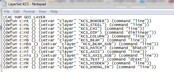 AutoCAD - Sử dụng file lisp tạo lệnh tắt để chuyển nhanh Layer và