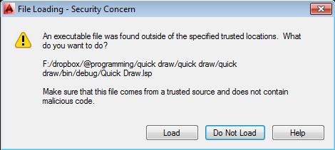 Kiểm soát việc xác minh các file lisp và dll khi khởi động